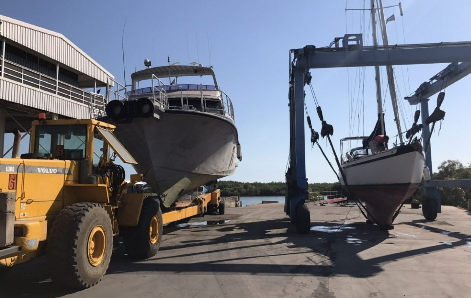 Boat lifting and hard stand storage